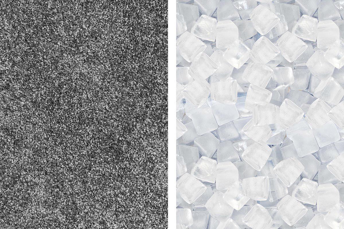 Avec des glaçons, éliminez les marques de meuble sur un tapis.