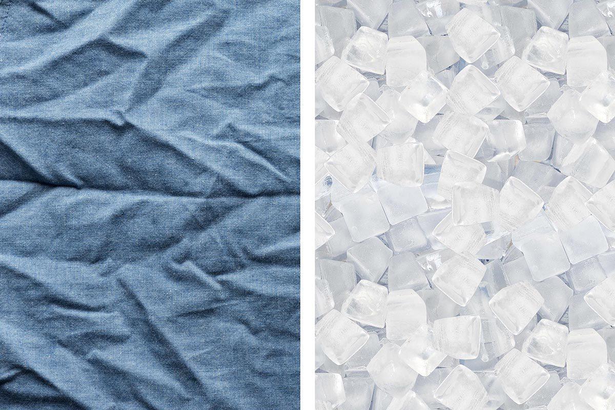 Avec des glaçons, faites disparaitre des plis sur vos vêtements.