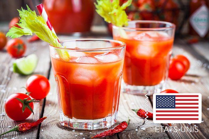 Gueule de bois : Aux États-Unis, buvez un Bloody Mary.