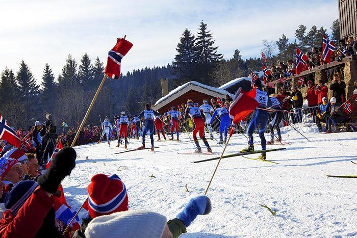 En hiver, faites du ski à Oslo en Norvège.