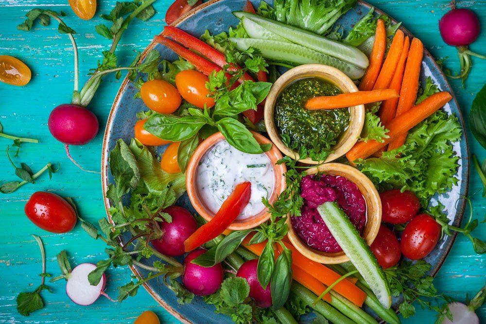 Pour manger santé, préparez toujours toujours un hors-d'oeuvre de légumes.