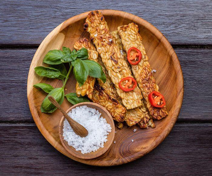 Le régime végétalien est constitué de protéines végétales.