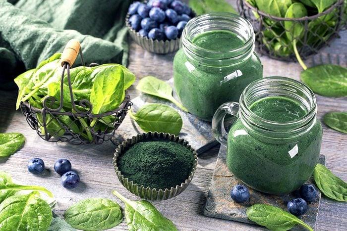 La spiruline est source de vitamines.