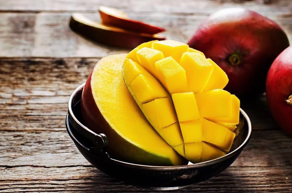 Superaliments pour avoir une belle peau : les mangues.
