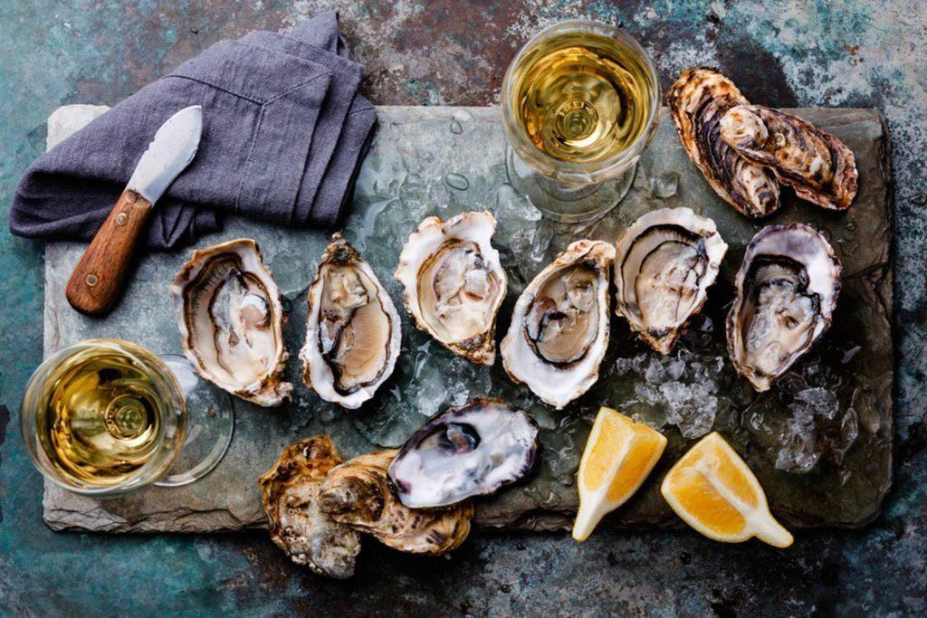 Superaliments pour avoir une belle peau : les huîtres.
