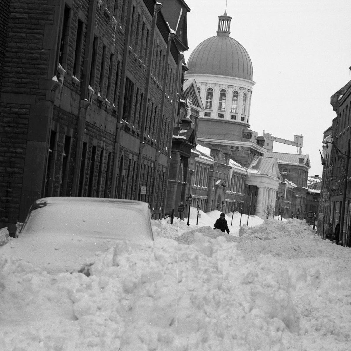 La tempête de neige de mars 1971 est mémorable.