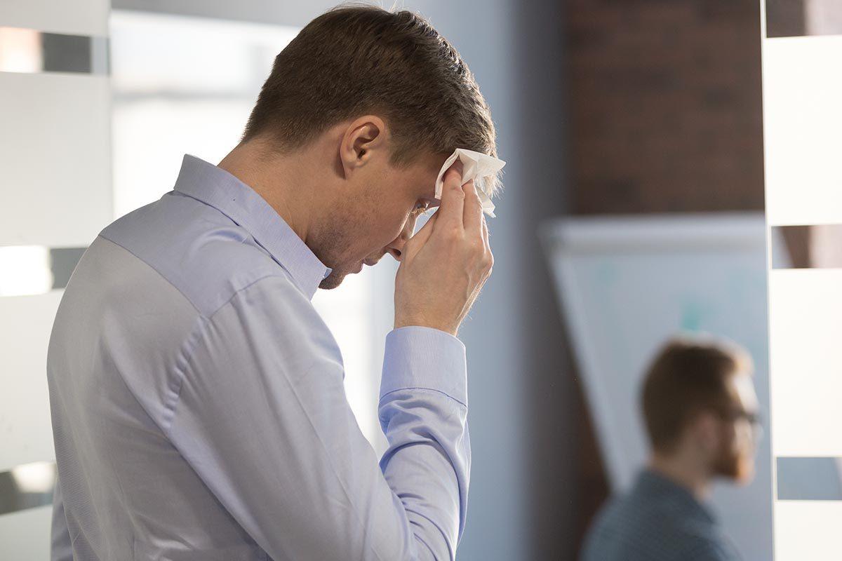Vitamine D : un front suintant est symptomatique d'une carence.