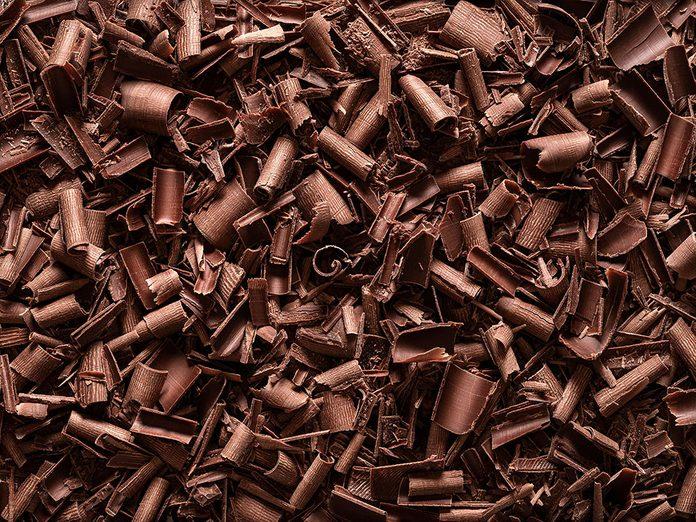 Des copeaux de chocolat à ajouter au yogourt.