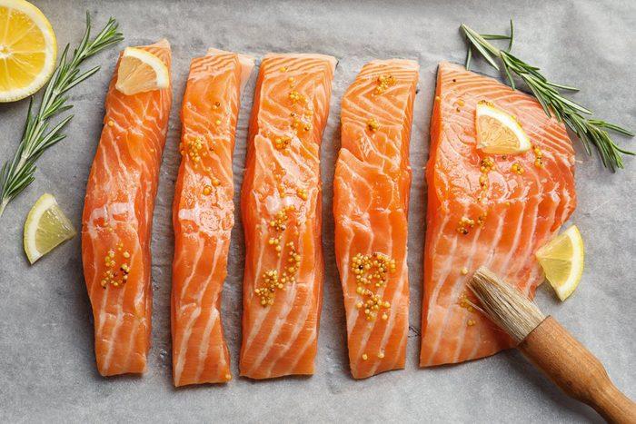 Aliment anti-cellulite : le saumon.