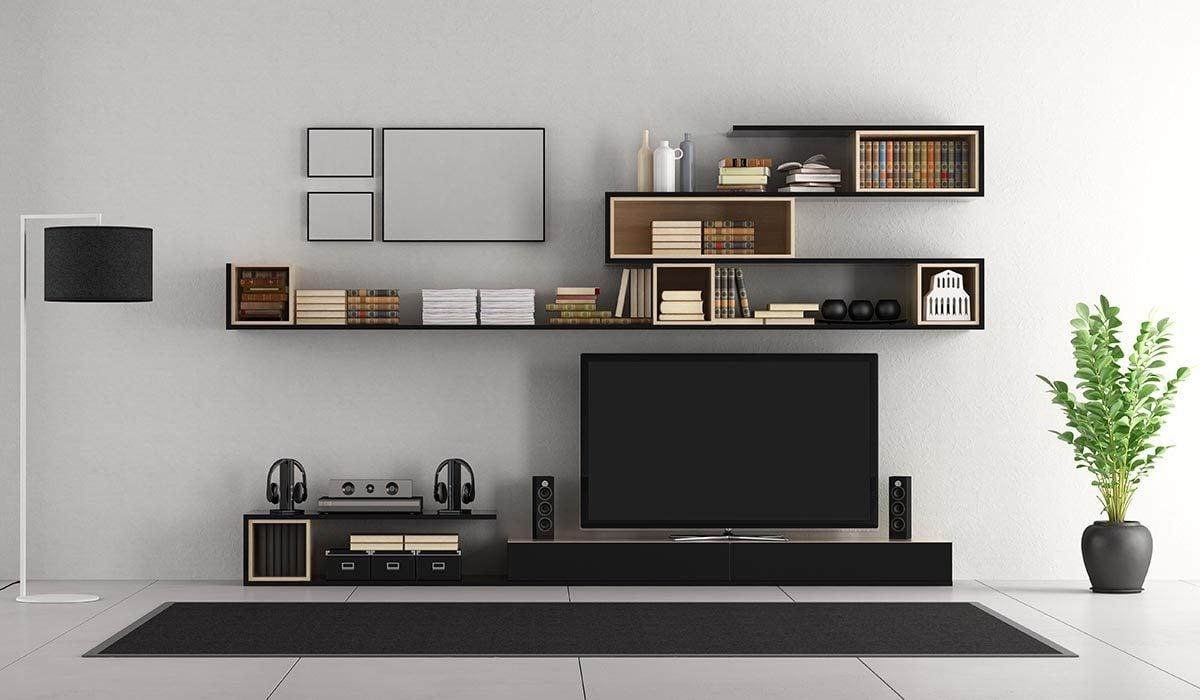 Pour une déco minimaliste, alignez vos meubles à l'horizontal.