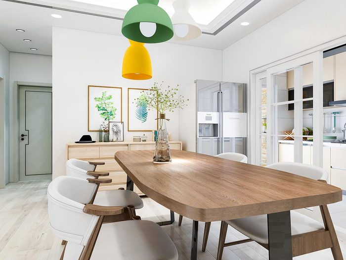 Pour une déco minimaliste, n'ajoutez pas de décoration inutile.