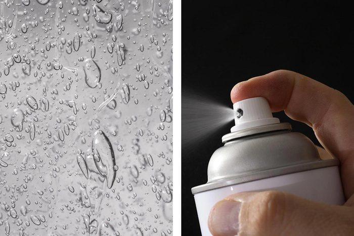 Le désinfectant pour les mains peut enlever la laque du miroir.