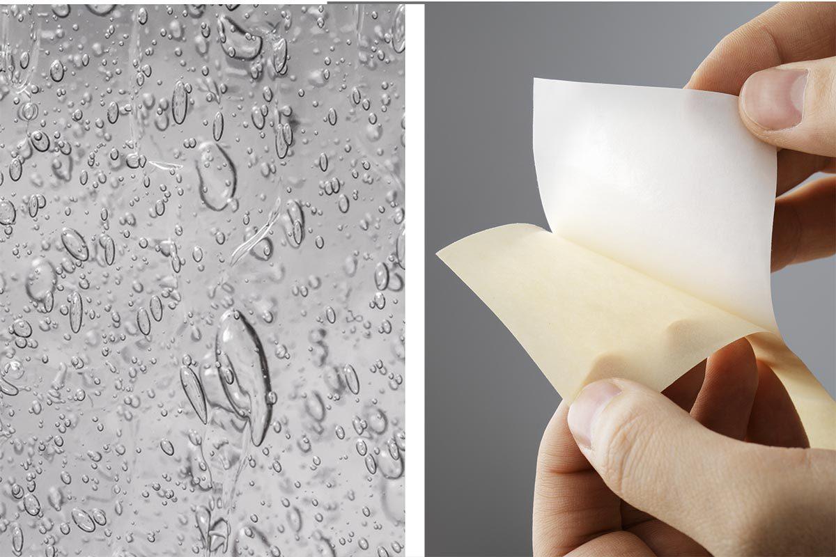 Le désinfectant pour les mains peut retirer des matières autocollantes.