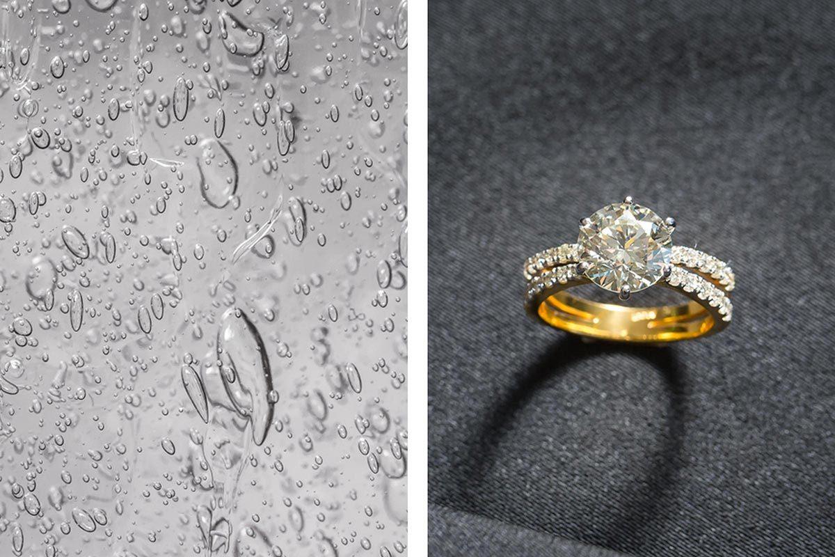 Le désinfectant pour les mains peut servir à nettoyer une bague en diamant.
