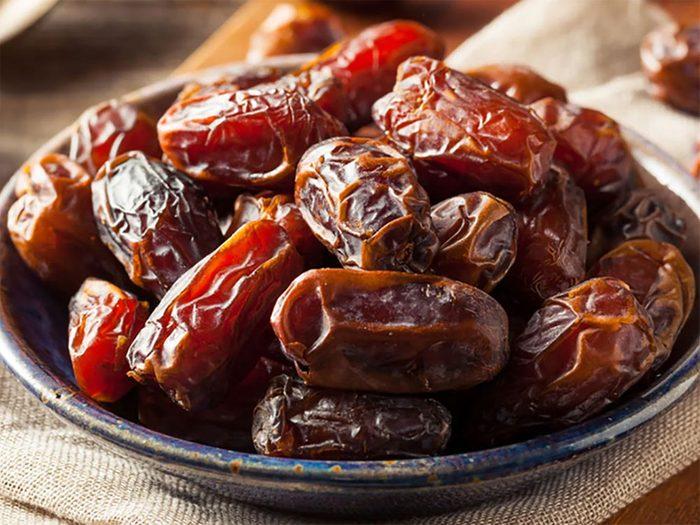 Les glucides contenus dans les dattes sont bons pour la santé.