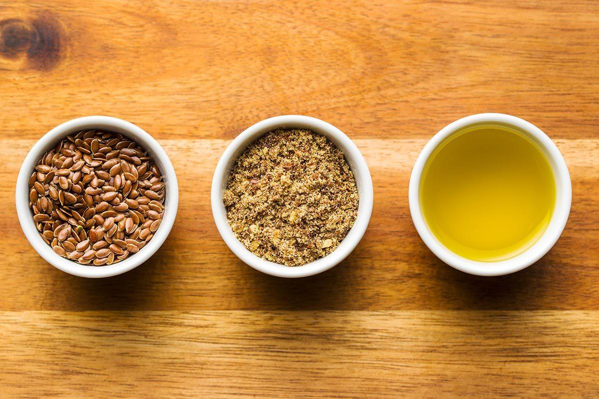 La graine de lin est une source de fibres.