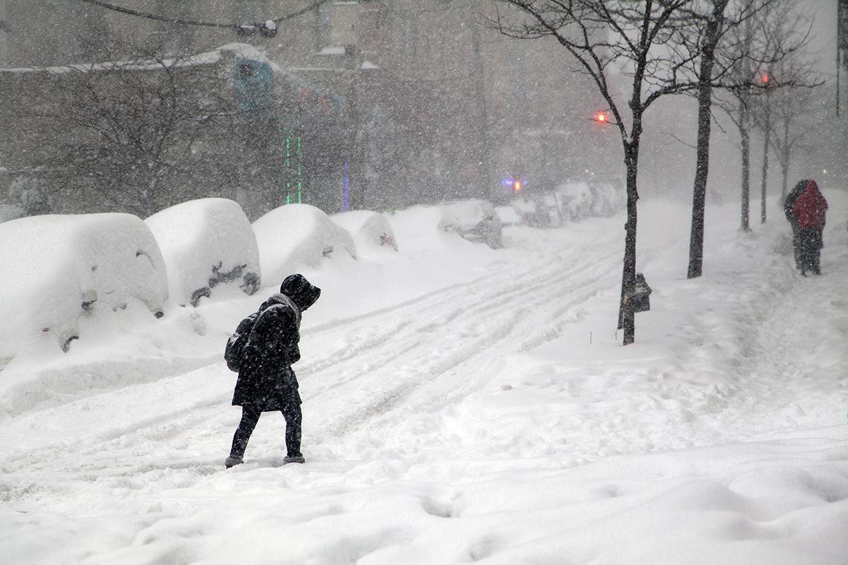 Expression météo : Une bordée de neige