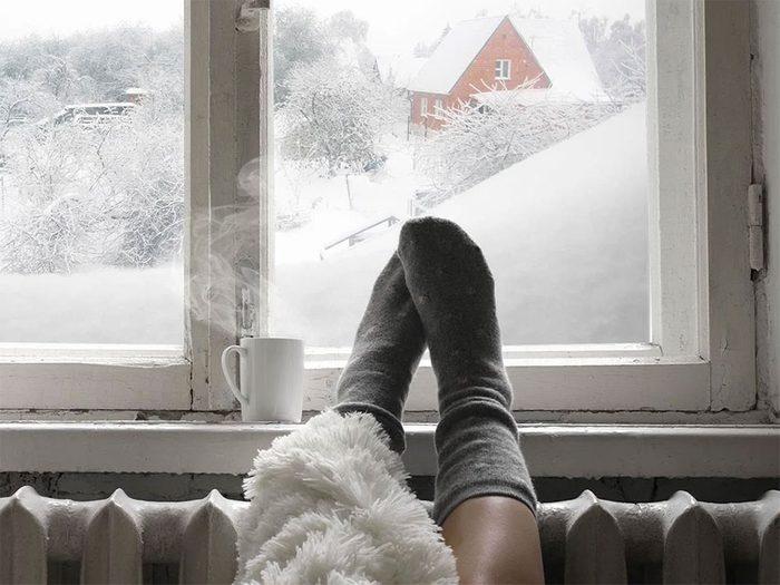 Quand on utilise l'expression «un froid sibérien» pour parler de la météo en hiver.