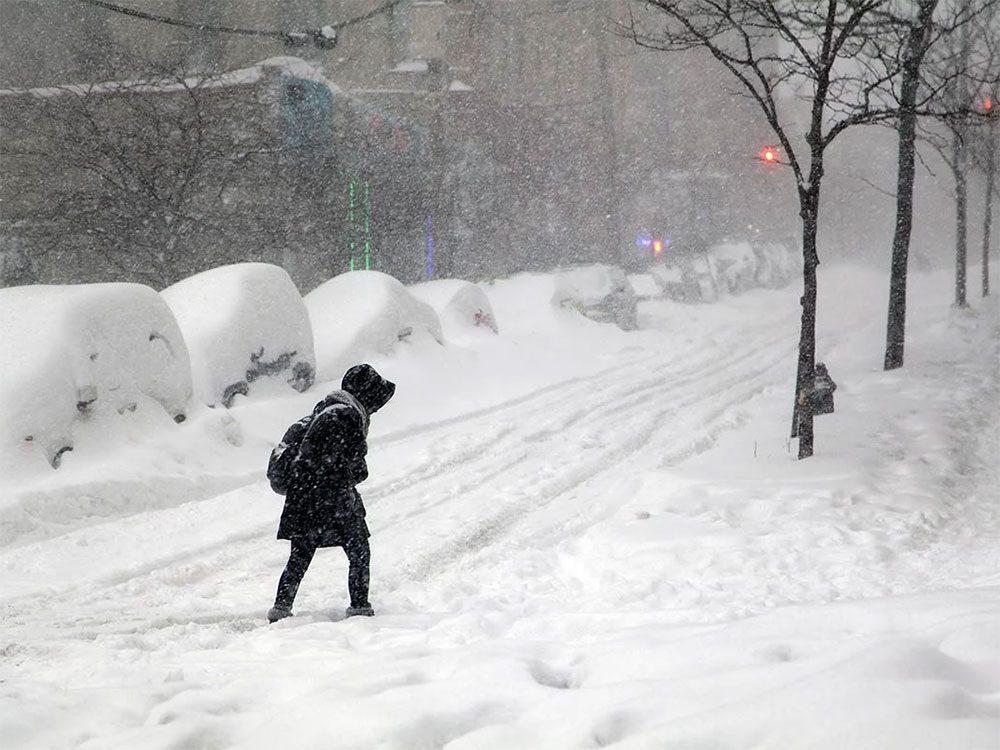 Quand on utilise l'expression «une bordée de neige» pour parler de la météo en hiver.