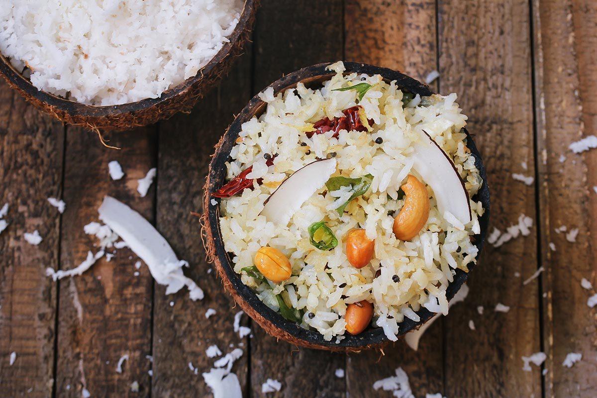 La noix de coco est facile et rapide à cuisiner.