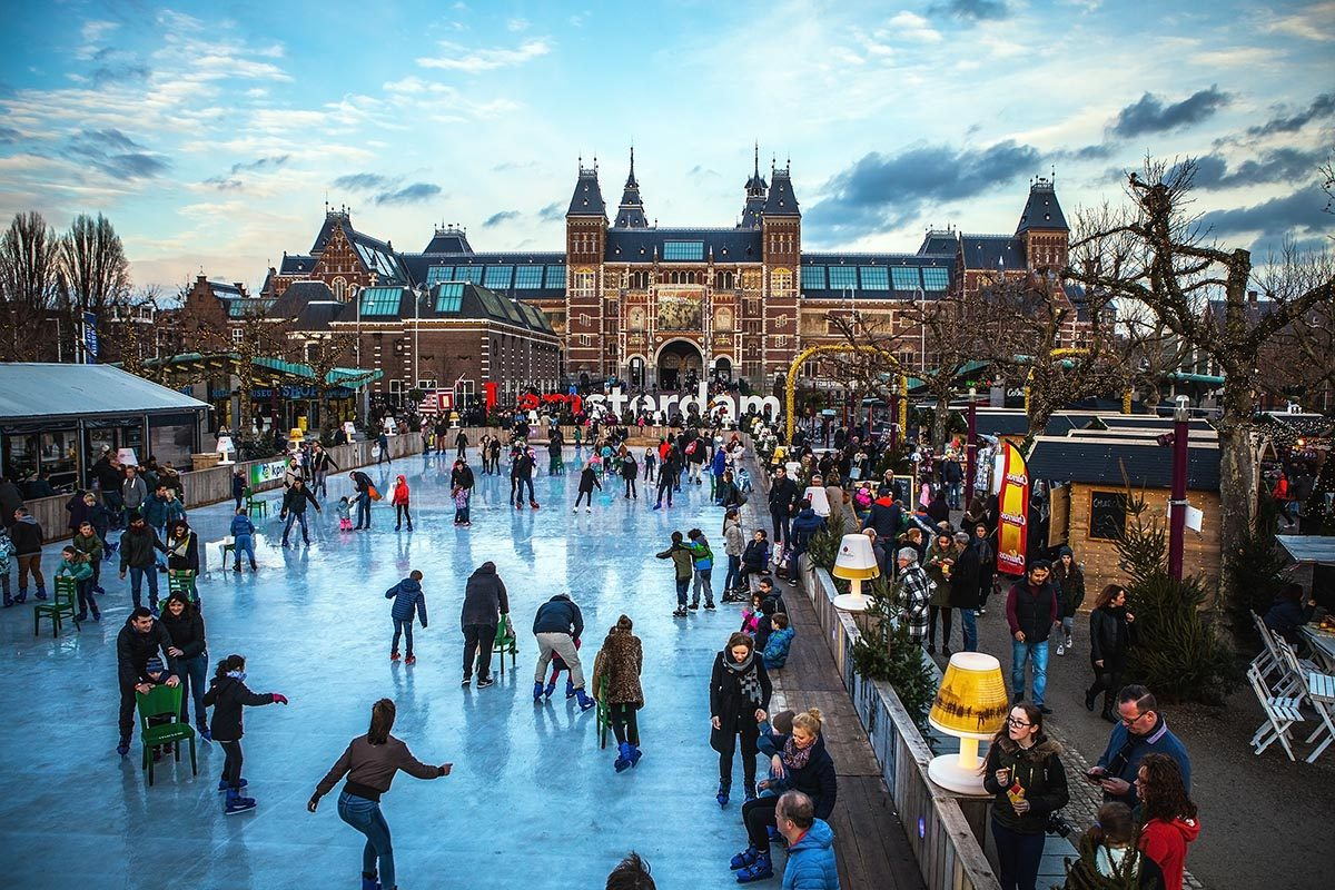 Patinoire à Amsterdam, Hollande