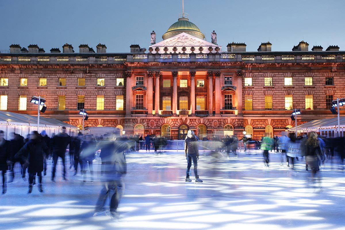Patinoire à Londres, Angleterre