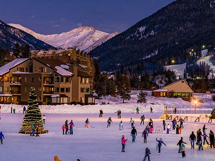 La patinoire du lac Keystone dans le Colorado.