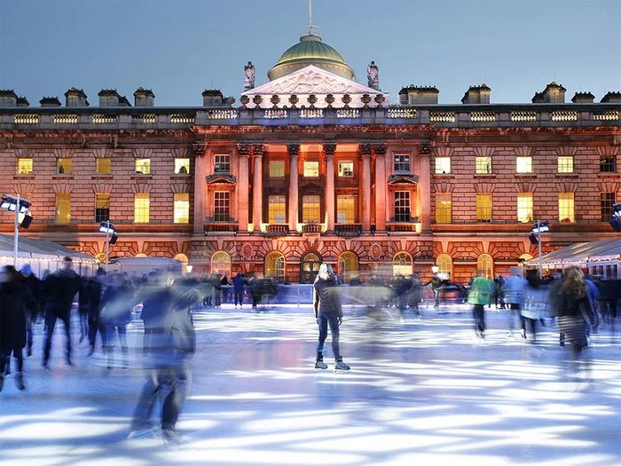 La patinoire de Londres en Angleterre.