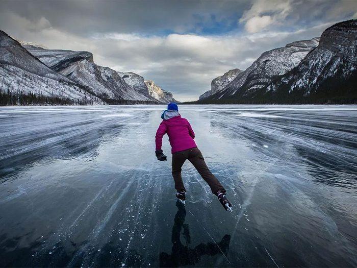 La patinoire du Lac Louise en Alberta.