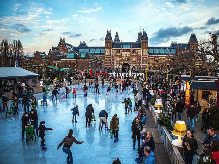 La patinoire d'Amsterdam en Hollande.