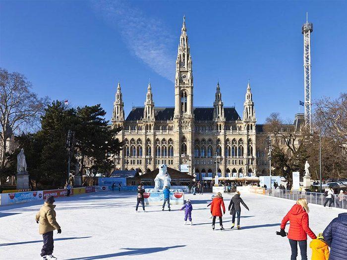 La patinoire de Vienne en Autriche.