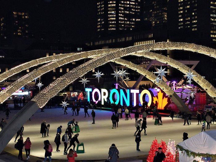 La patinoire de Toronto au Canada.