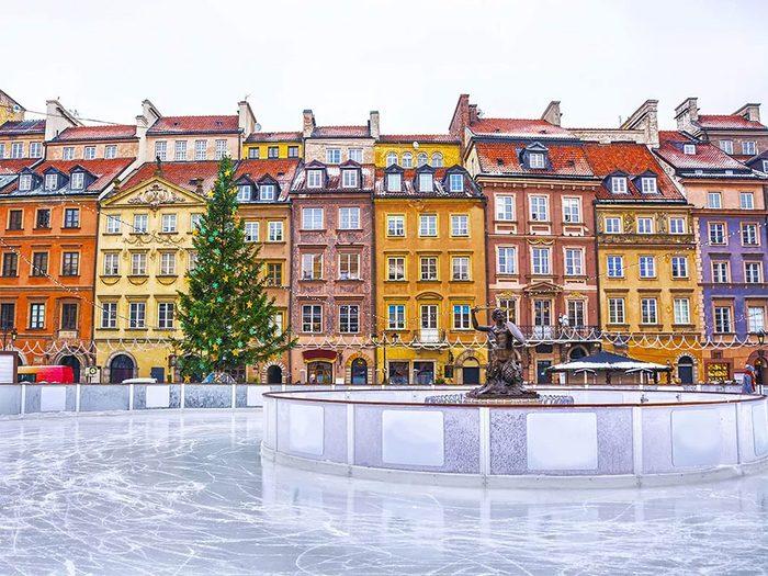 La patinoire de Varsovie en Pologne.