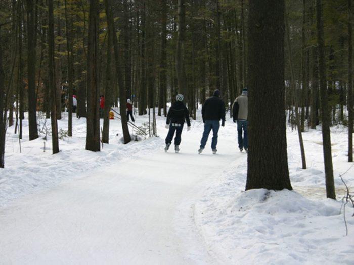 La patinoire du parc du domaine vert.