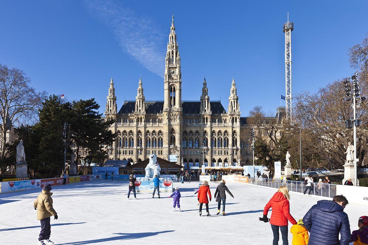 Patinoire à Vienne, Autriche