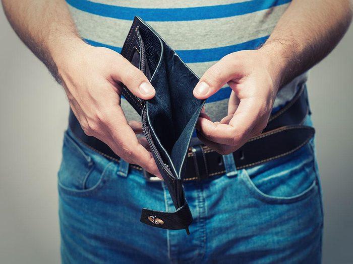 Problèmes financiers : confusion de la dette.