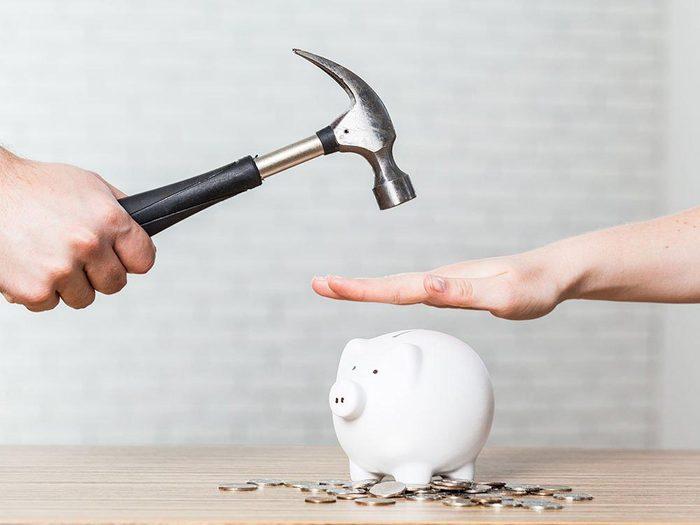 Problèmes financiers : ne pas avoir une réserve pour les mauvais jours