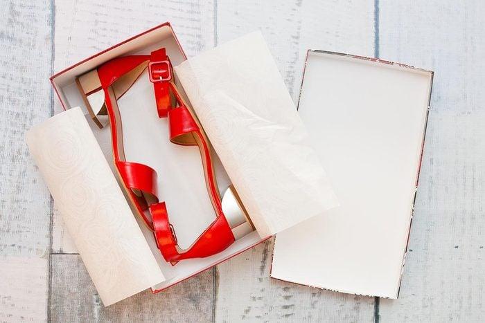 Rangement : gardez vos boîte de chaussures.