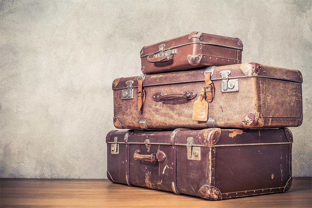Rangement original : utilisez de vieille valise pour stocker vos affaires.