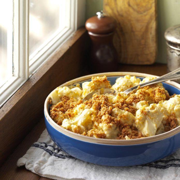 Mijoté de chou-fleur au fromage