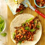 Tortillas de boeuf effiloché à la mexicaine