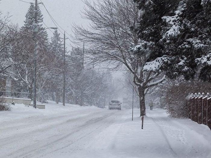 En décembre 2013 s'est déroulée l'une des pires tempêtes de neige du Québec et du Canada.