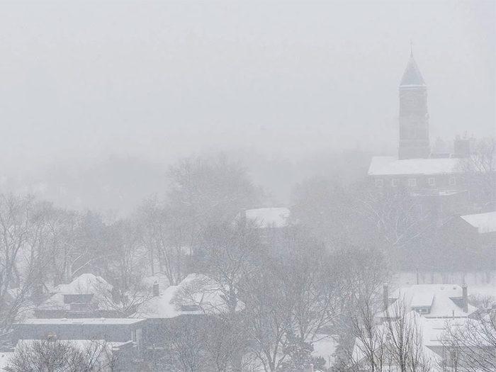 En janvier 1999 s'est déroulée l'une des pires tempêtes de neige du Québec et du Canada.