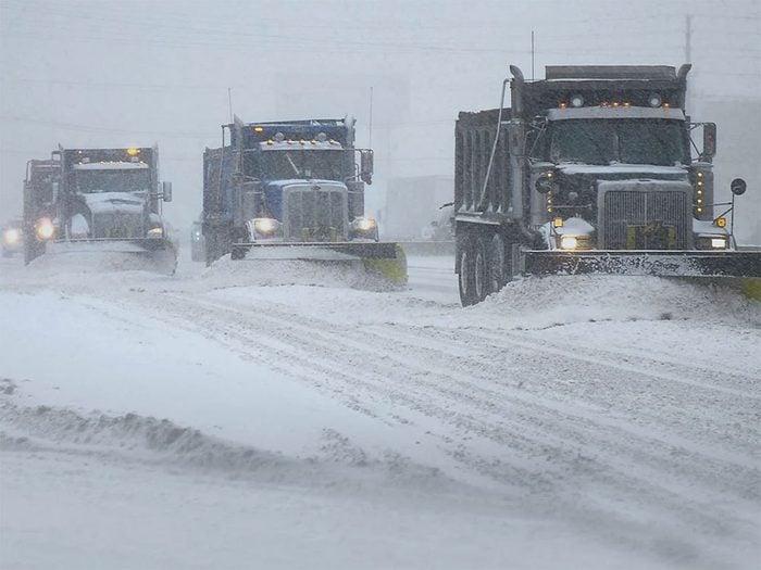 En mars 2014 s'est déroulée l'une des pires tempêtes de neige du Québec et du Canada.