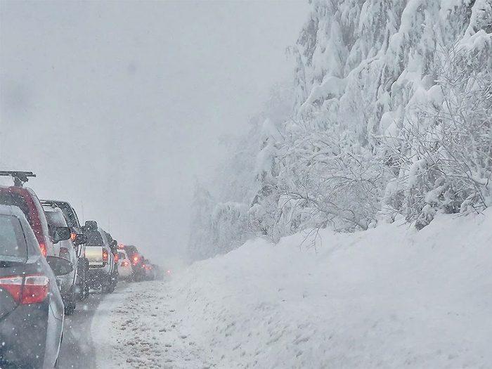 En décembre 1996 s'est déroulée l'une des pires tempêtes de neige du Québec et du Canada.