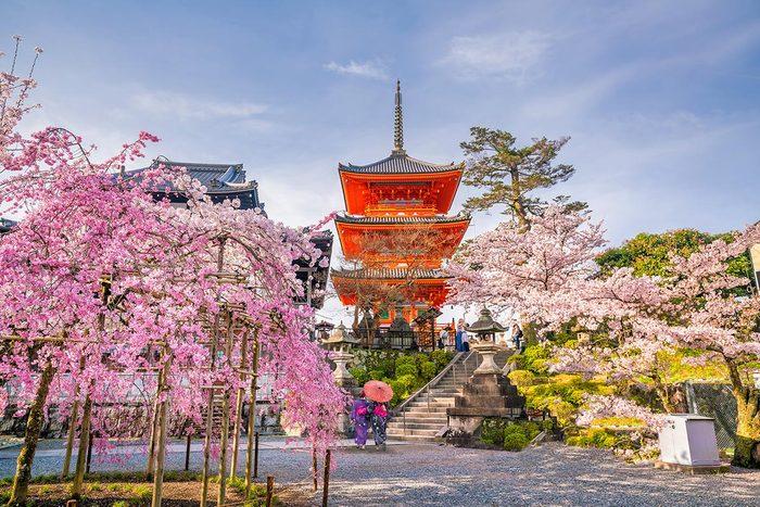Ville romantique : Kyoto.