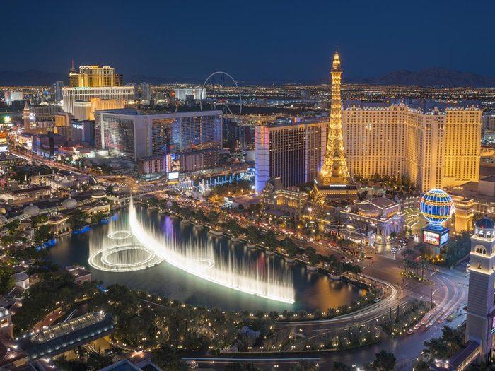 Ville romantique : Las Vegas.