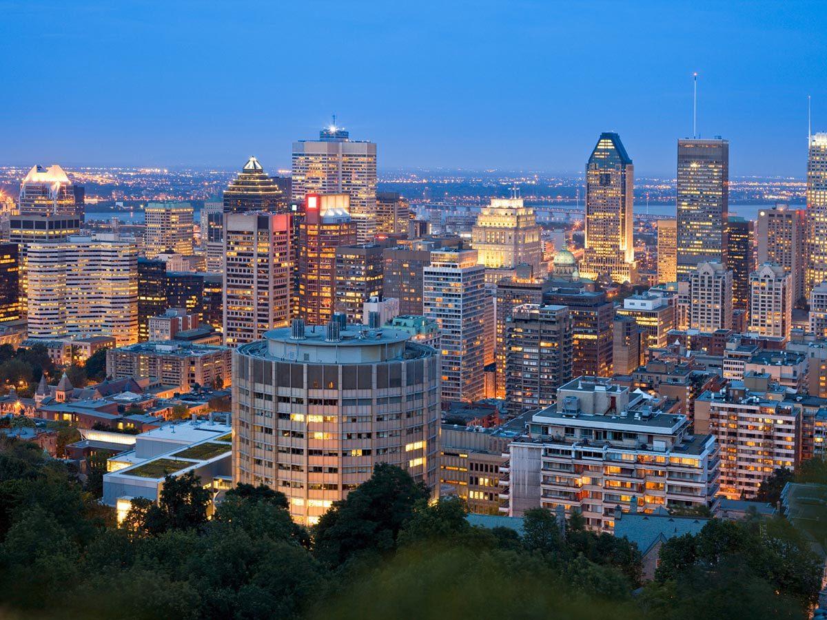 Ville romantique : Montréal.
