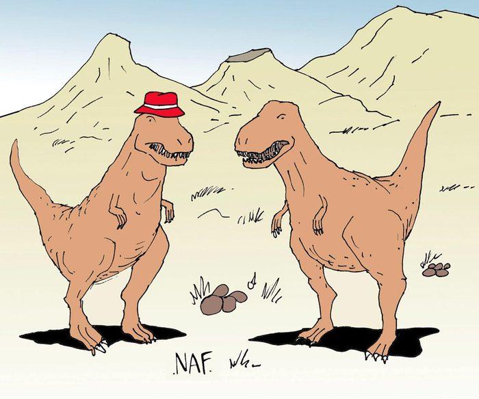 Blague sur les dinosaures.
