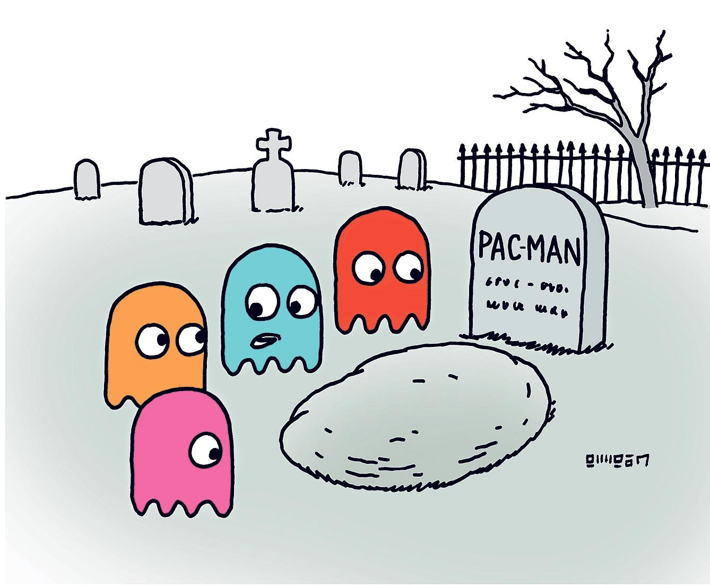 Blague sur Pac-Man.